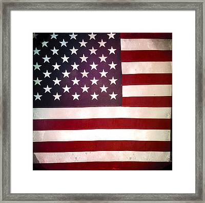 Stars And Stripes Framed Print by Les Cunliffe