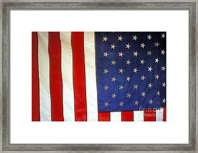 Stars And Stripes Of The United States Framed Print by Ron Sanford