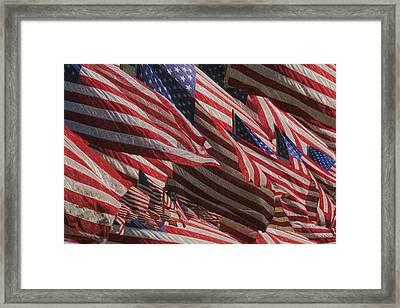 Stars And Stripes - Remembering Framed Print