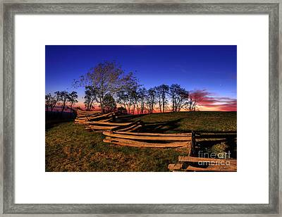 Stars At Sunrise On The Blue Ridge Framed Print by Dan Carmichael