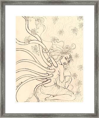 Stars Entwined In Her Hair Framed Print by Coriander  Shea