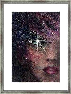 Stars In Her Eyes Framed Print by Rachel Christine Nowicki