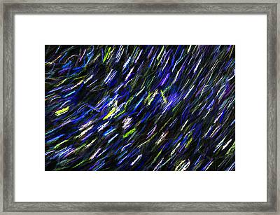Stars In The Night Sky Abstract 2 Framed Print by Sharon Talson