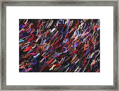 Stars In The Night Sky Abstract 3a Framed Print by Sharon Talson