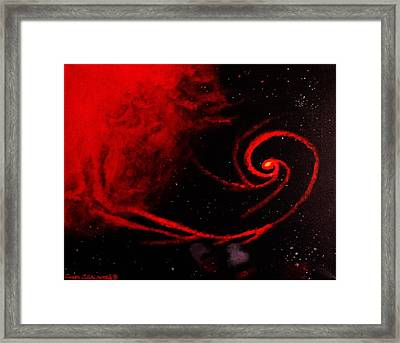 Stars Locked In Immortal Embrace Framed Print