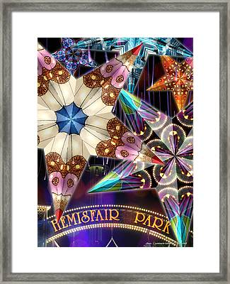 Stars - Luminaria Collection Framed Print by Leslie Kell