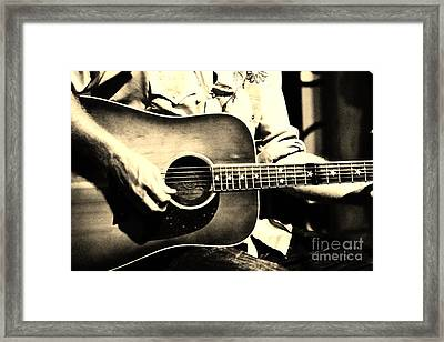Stars N' Guitars Framed Print by Lynda Dawson-Youngclaus
