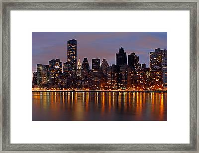 Stars Of New York City Framed Print by Juergen Roth