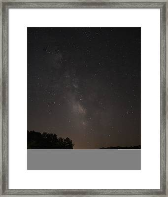 Stars On Lake Logan Framed Print