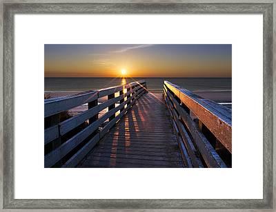 Stars On The Boardwalk Framed Print by Debra and Dave Vanderlaan
