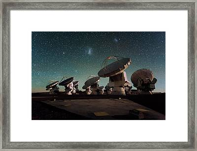 Stars Over Alma Framed Print by Eso/c. Malin