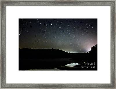 Stars Over Lake Framed Print by Thomas R Fletcher