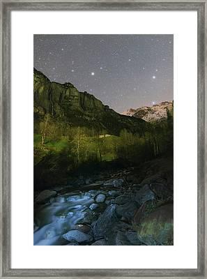 Stars Over Lauterbrunnen Framed Print by Babak Tafreshi