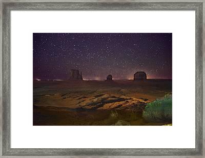 Stars Over Monument Valley Framed Print