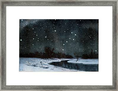 Stars Over Snow Field Framed Print by Cci Archives