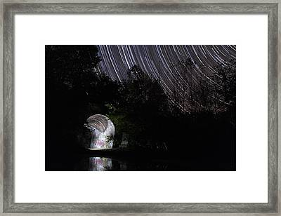 Stars Over The Tunnel Framed Print by Shae Cohan