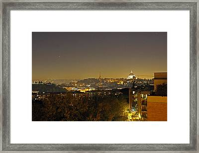 Stars Over The Vatican City Framed Print by Tony Murtagh