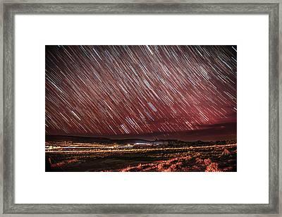 Stars Screaming Over The Desert Framed Print by Noah Katz
