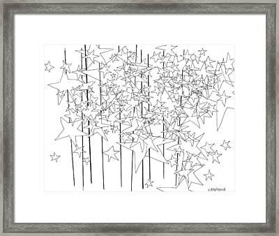 Stars Framed Print by Teddy Campagna