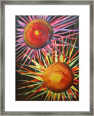 Stars With Colors Framed Print by Chrisann Ellis