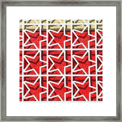 Stars With Shadows Framed Print by Art Block Collections