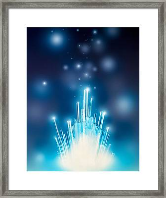 Stars With Trails Rising From Bright Framed Print by Panoramic Images