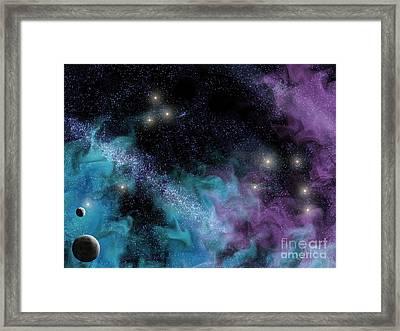 Starscape Nebula Framed Print by Antony McAulay