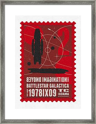 Starschips 02-poststamp - Battlestar Galactica Framed Print by Chungkong Art