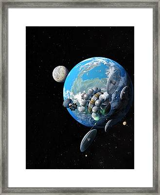 Starship At Alpha Centauri Framed Print