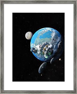 Starship At Alpha Centauri Framed Print by Don Dixon