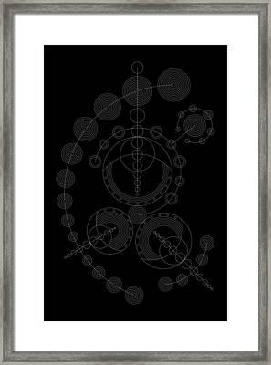 Starship Inverse Framed Print