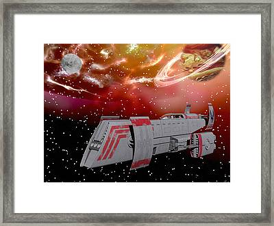 Starship Wonder Framed Print