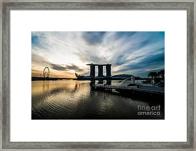 Start A Day Framed Print by Yoo Seok Lee