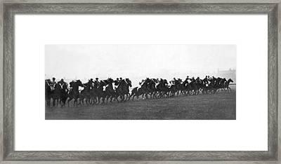 Start Of Manchester Handicap Framed Print by Underwood Archives