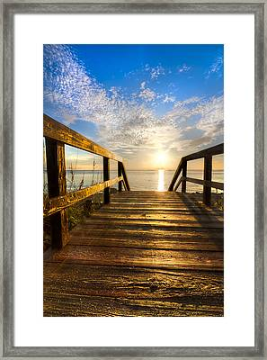 Start Of The Day Framed Print by Debra and Dave Vanderlaan
