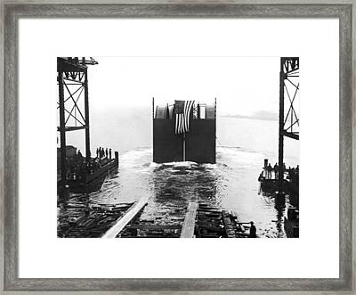 Start Of The Holland Tunnel Framed Print by Underwood Archives
