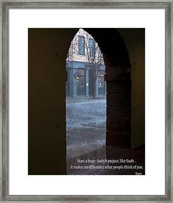 Start  Framed Print by Rhonda McDougall