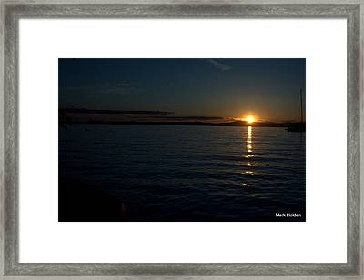 Start To A Brand New Day Framed Print by Mark Holden