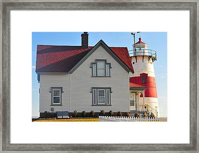 Startford Point Light 3 Framed Print by Catherine Reusch Daley