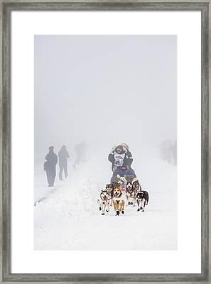 Starting In The Fog Framed Print by Tim Grams
