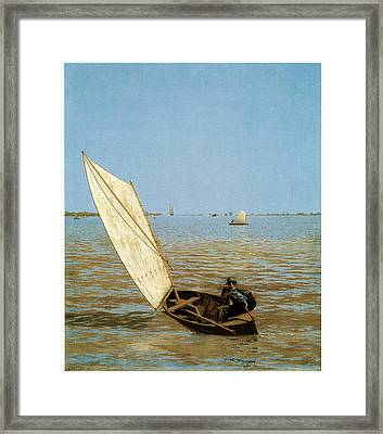 Starting Out After Rail Framed Print by Thomas Eakins