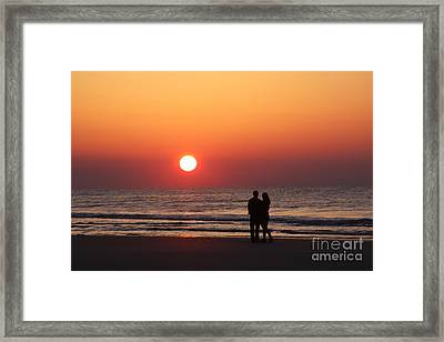 Starting Your Day Off Right With The One You Love Framed Print