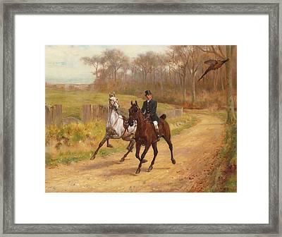 Startled Framed Print by  Thomas Blinks