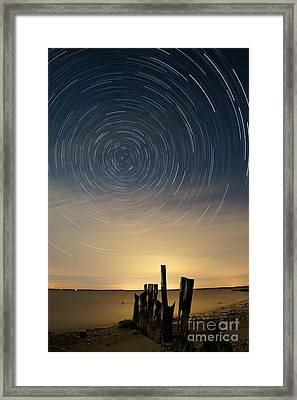 Startrails 2 Framed Print by Benjamin Reed