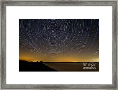 Startrails 3 Framed Print by Benjamin Reed