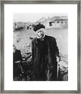 Starved, Almost Blind Russian Slave Framed Print