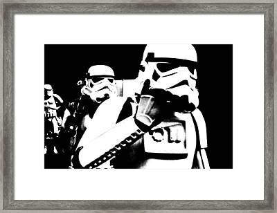Starwars Troopers Framed Print