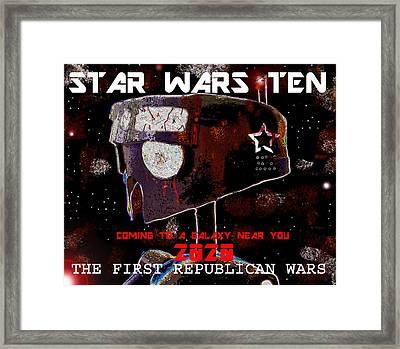 Star Wars Ten Flyer Framed Print by David Lee Thompson