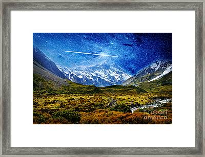 Stary Night Over Highlands Framed Print by Celestial Images