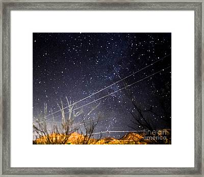 Stars Drunk On Lightpaint Framed Print